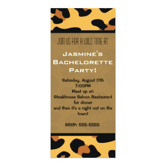 Cheetah Leopard Animal Print Long Invitations