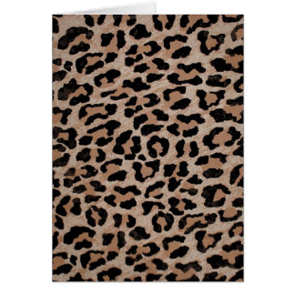 cheetah leopard print card