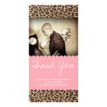 CHEETAH THANKS PERSONALIZED PHOTO CARD