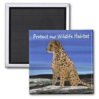 Cheetah Wildlife Habitat Magnets