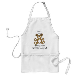 chef bear, Hope you're BEARY hungry! Standard Apron