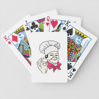 Chef Bicycle Playing Cards