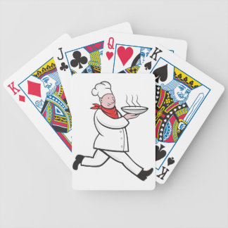 Chef Carrying Food Playing Cards