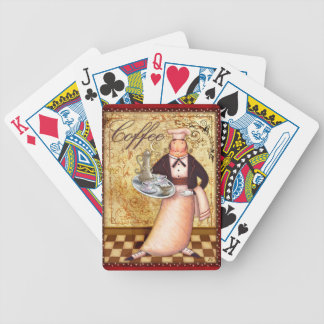 Chef Coffee Bicycle Playing Cards