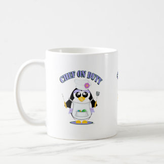 Chef on Duty Penguin Female Coffee Mug