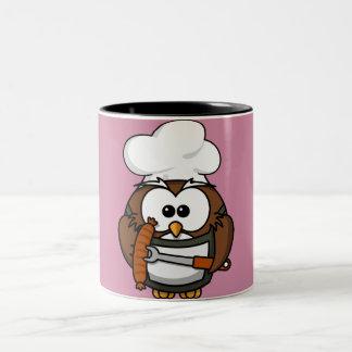 Chef owl Two-Tone coffee mug