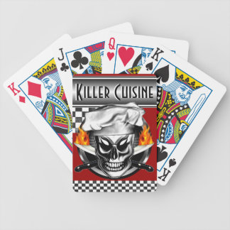 Chef Skull 4 Bicycle Playing Cards