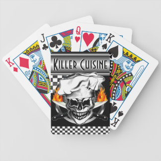 Chef Skull 6 Bicycle Playing Cards