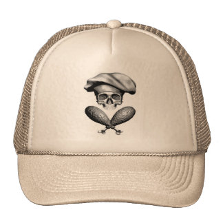 Chef Skull and Drumsticks Cap