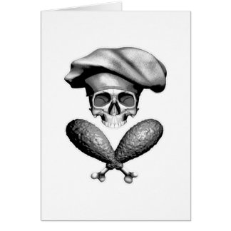 Chef Skull and Drumsticks Card