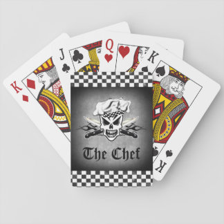 Chef Skull and Flaming Chef Knives 2 Playing Cards