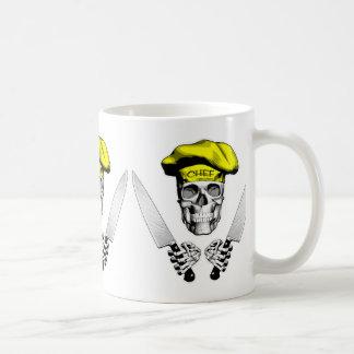 Chef Skull with Chef Knives Coffee Mug