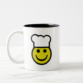 Chef Smiley Two-Tone Coffee Mug