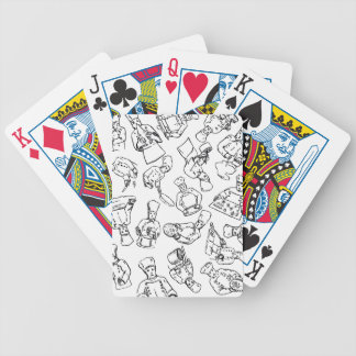 Chefs, Pastry Chefs and Cooks Working Bicycle Playing Cards