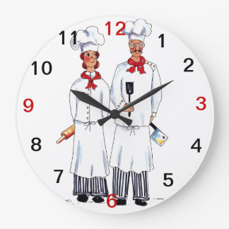Chefs Wall Clock