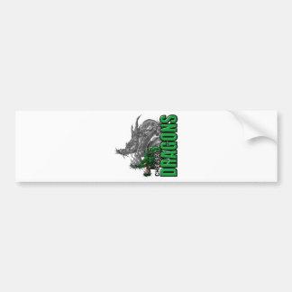 Chelsea Dragons (vertical) Bumper Sticker
