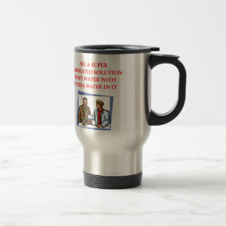 chemistry joke stainless steel travel mug