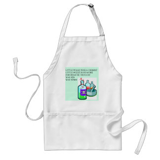 chemistry little willie rhyme standard apron