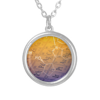 Chemistry Silver Plated Necklace