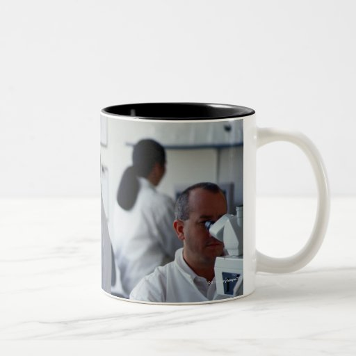 Chemists Working in a Laboratory Mugs