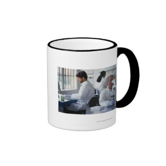 Chemists Working in a Laboratory Ringer Mug