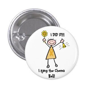 Chemo Bell - Childhood Cancer Gold Ribbon 3 Cm Round Badge