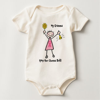 Chemo Bell - Pink Ribbon Breast Cancer Baby Bodysuit