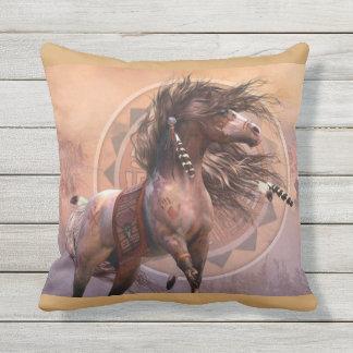 Cherokee Horse Throw Pillow