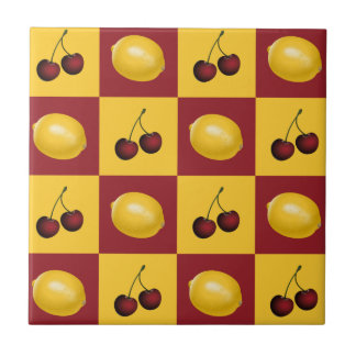 Cherries & Lemons - Red and Yellow Tile