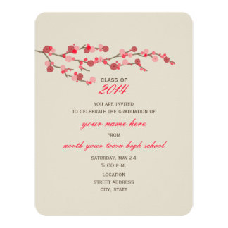 Cherry Blossom 2014 Graduation Invitation