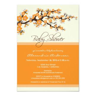 Cherry Blossom Baby Shower Invitation (orange)