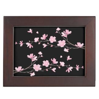 Cherry Blossom - Black Keepsake Box