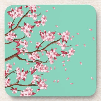Cherry Blossom Branches Coasters