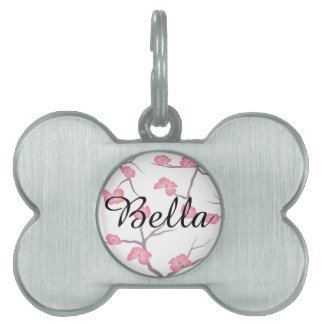 Cherry Blossom Branches Pet ID Tag