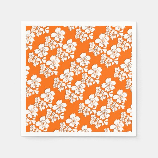 Cherry blossom orange sakura spring disposable napkin