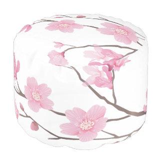 Cherry Blossom Pouf