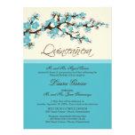 Cherry Blossom Quinceanera Invitation (aqua)