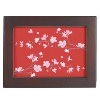 Cherry Blossom - Red Keepsake Box