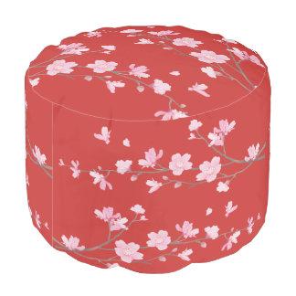 Cherry Blossom - Red Pouf