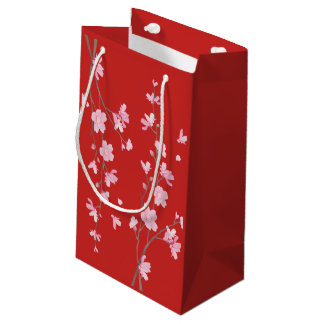 Cherry Blossom - Red Small Gift Bag