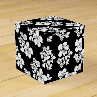 Cherry blossom sakura black white party favour box