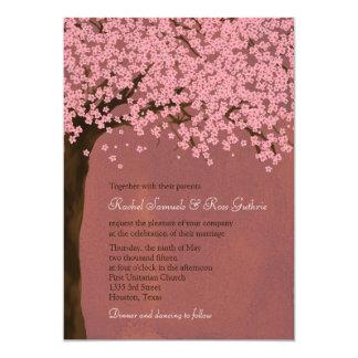 Cherry Blossom / Sakura (Dusk) Watercolor Wedding 13 Cm X 18 Cm Invitation Card