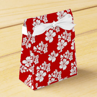 Cherry blossom sakura red japanese wedding favour box