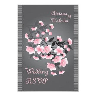 Cherry blossom (Sakura) RSVP 9 Cm X 13 Cm Invitation Card