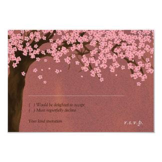 Cherry Blossom / Sakura Watercolor (Dusk) RSVP 9 Cm X 13 Cm Invitation Card
