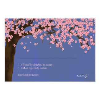 Cherry Blossom / Sakura Watercolor (Night) RSVP 3.5x5 Paper Invitation Card