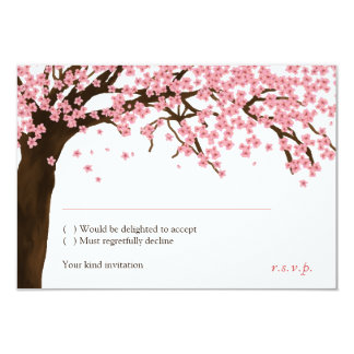 Cherry Blossom / Sakura Watercolor RSVP 9 Cm X 13 Cm Invitation Card