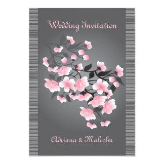 Cherry blossom (Sakura) Wedding 13 Cm X 18 Cm Invitation Card