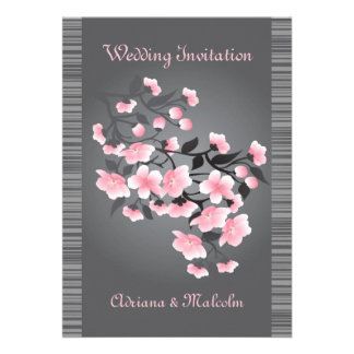 Cherry blossom Sakura Wedding Personalized Invites