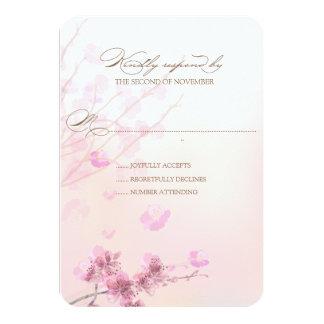 Cherry Blossom/Sakura Wedding RSVP Cards 9 Cm X 13 Cm Invitation Card